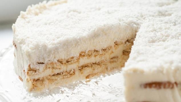To παραδεισένιο κέικ με σιμιγδάλι και ινδοκάρυδο