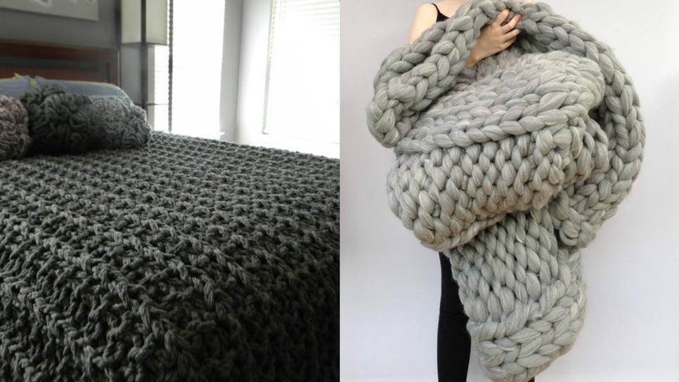 Πλέξιμο με τα χέρια  Φτιάξε απίθανα ριχτάρια και κουβέρτες σε 45 λεπτά    Home   Woman TOC b1e6519b9ee